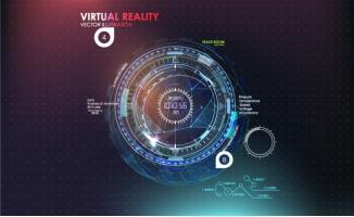 科技炫酷工业图表背景元