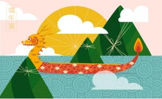 粽子船赛龙舟传统节日端