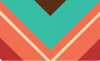 创意扁平彩虹三角形图案