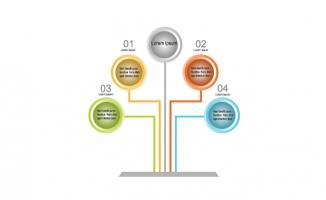 彩色按钮信息图表素材