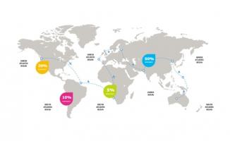 飞机航线线路图世界地图
