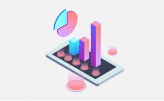 粉色数据图表素材