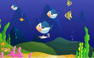 海底世界动漫背景动画视