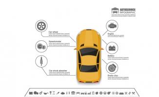 黄色小汽车信息分析图表