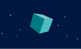 立体正方形图案转圈MG动画