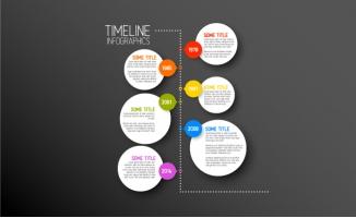 历年事件时间轴信息图矢