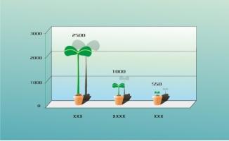 盆栽食物信息图表素材