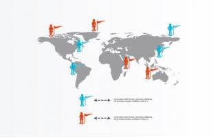 人员世界地图图表素材
