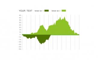 山峰数据图表素材