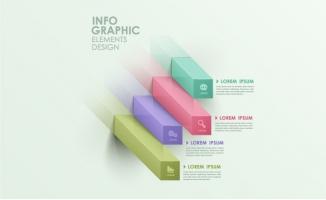 商务立体图表信息分析模