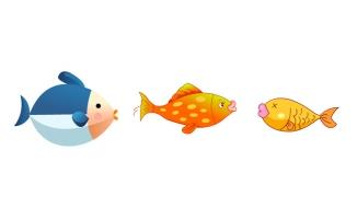 海洋生物海鱼卡通动漫动