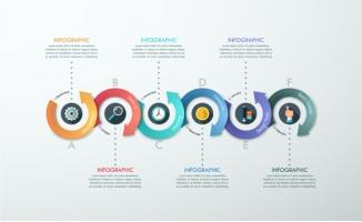 矢量信息创意图表素材