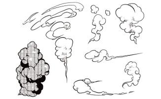 平面漫画设计烟雾效果图