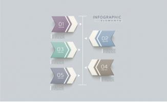 数字序号图表信息图设计