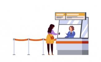 女人旅行登记机场航站楼
