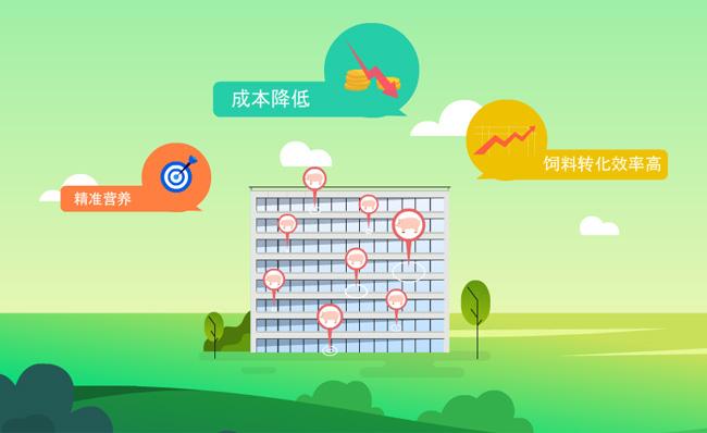 养猪大楼图标标题动画MG宣传片视频模板