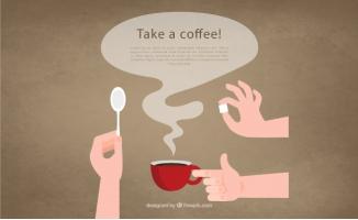 冲咖啡的手臂矢量图