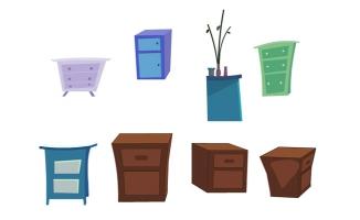 床头柜造型素材动画道具