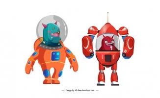 机器人智能科技卡通素材