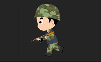 举枪跑步的士兵ae动画模板