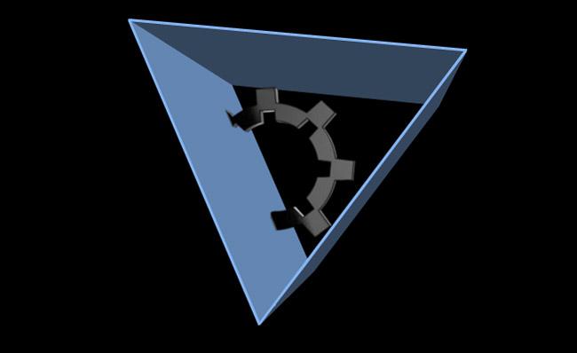 立体三角形机械主题转场动画an模板素材