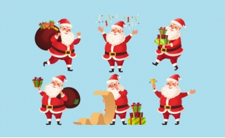 圣诞老人卡通人物圣诞节