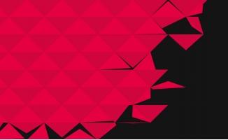 红色背景三角形图案填画