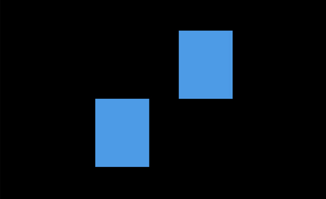 两块方块图案切换特效动
