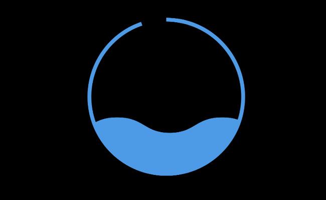 海水填满圆圈的动漫卡通